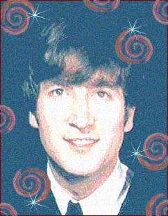 Beatle John Lennon, as he appeared in the early days of Beatlemania
