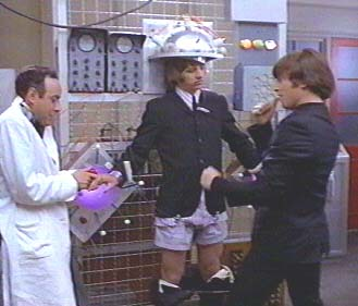 Victor Spinetti in a scene from Help! with John Lennon and Ringo Starr