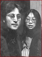 John Lennon and May Pang in the early 1970s