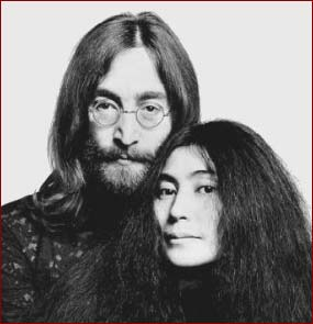 John Lennon and Yoko Ono in 1969.