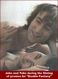 John and Yoko, once again nude, during a video shoot in November 1980.