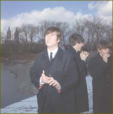 The Beatles in New York's Central Park in February 1964