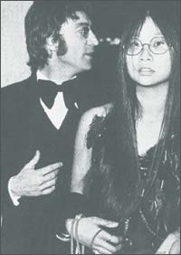John Lennon with May Pang in the early 1970s