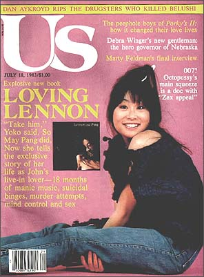 May Pang on the cover of US Magazine