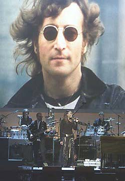 John Lennon backdrop from the Lennon Tribute on TNT