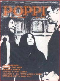 John and Yoko on the cover of Poppin 1971