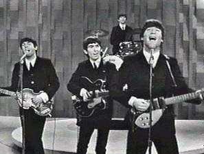 The Beatles performing on The Ed Sullivan Show for the first time